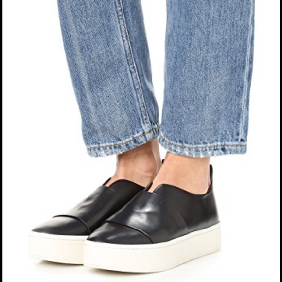 Vince Leather Platform Sneakers